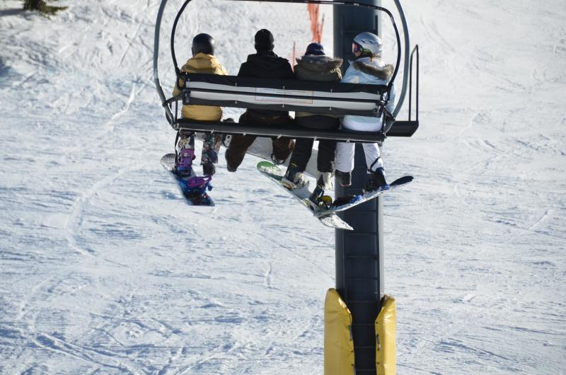 Ride the lifts in comfort